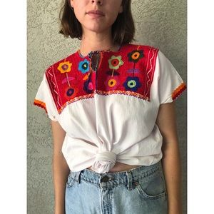 91bf6604 Vintage Tops | Embroidered Mexican Blouse | Poshmark